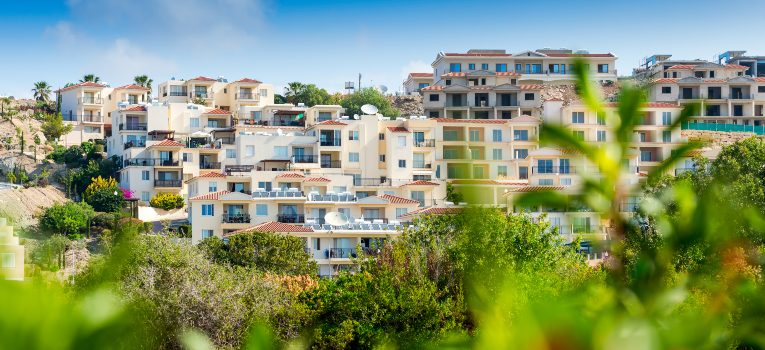 Residential area in Cyprus surrounded by greenery