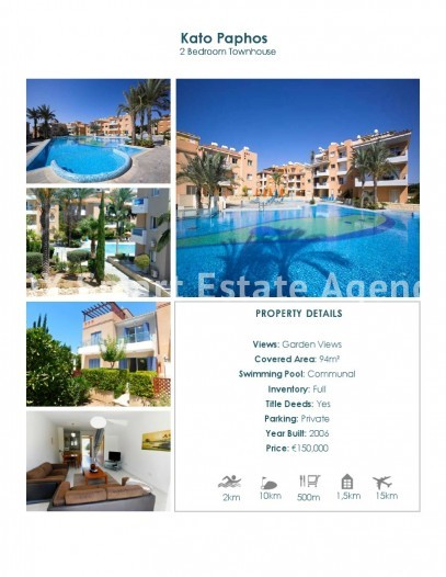 For Sale 2 Bedroom Maisonette House in Pafos, Paphos