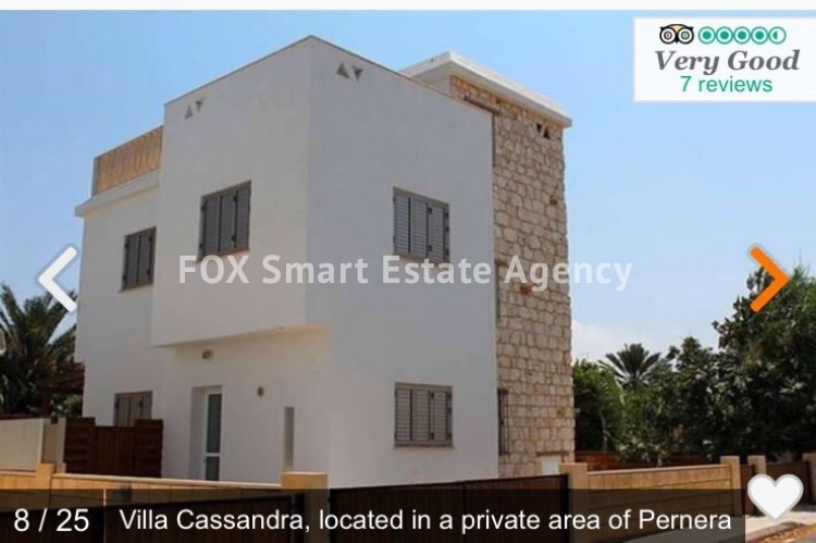 Holiday Let 3 Bedroom Detached Villa with Private Pool in Pernera