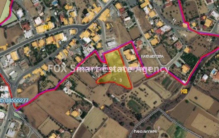 For Sale Residential Land 4,683sq.m in Kato Deftera, Nicosia