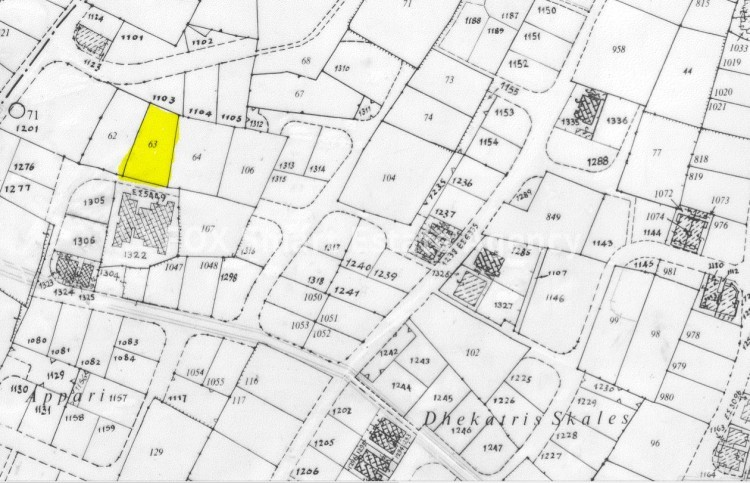 For sale residential land  1,032sq.m. in Tseri 2