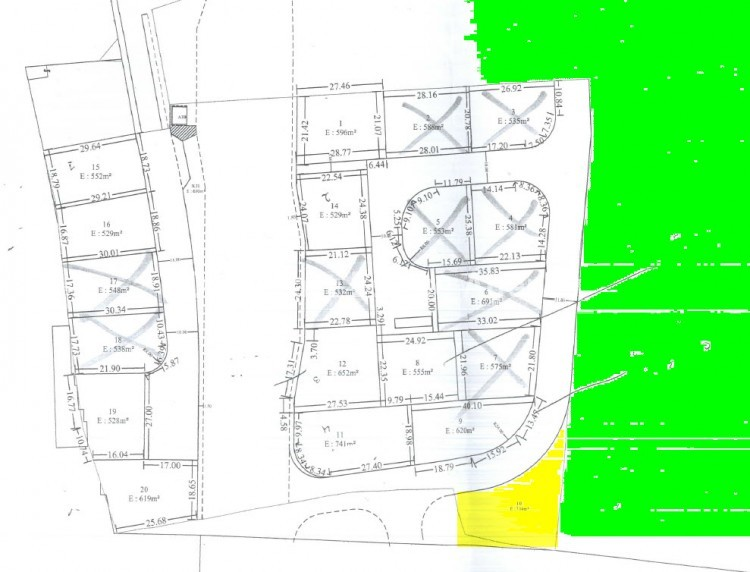 For Sale Under Separation Plot 714sq.m in Platy Aglantzias