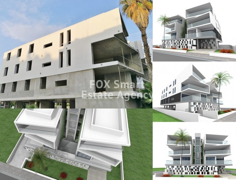 Unique modern style 3 bedroom flat No. 202 almost finished at Ayios Andreas