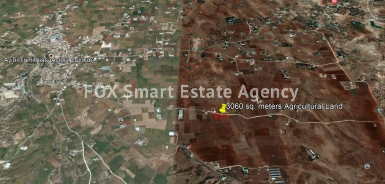For sale 3060 sq. meters Agricultural Land in Agioi Trimithias