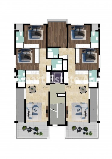 Luxury Under Construction 3 Bedroom Apartment with Roof Garden, For Sale,  in Sotiros Larnaca 8