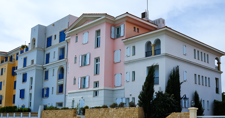 Rent to buy properties with coloured exterior walls